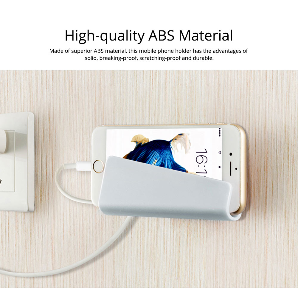 Creative Simple ABS Wall-Mounted Phone Supporter, Stationary Mobile Phone Plate Computer Holder Hanger 1