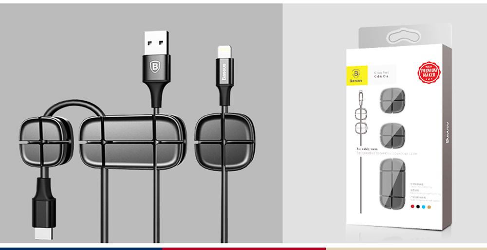 Ultrasoft Silicone Cross Cruciform Model Wire Data Line Earphone Organizer, Flexible Desktop Wire Holder Clamp Management 2