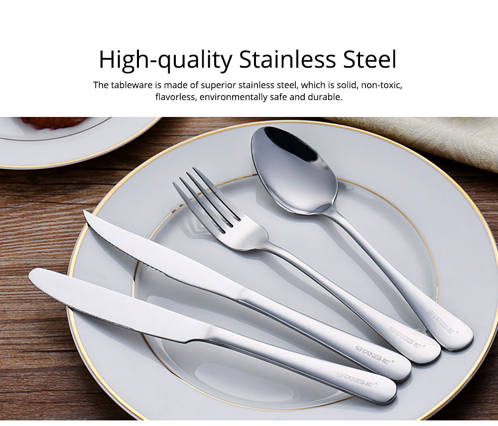 Simple Elegant Stainless Steel Knife Fork Spoon Cutlery Suit, Polishing Smooth Comfortable Tableware 2PCS 3PCS Set 1