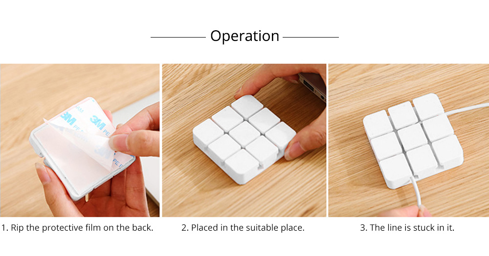Desktop Self-Adhesive Data Line Finishing Fixed Clip Cable Organizer, Silicone USB Fixed Line Clips Wire Retainer Holder 6