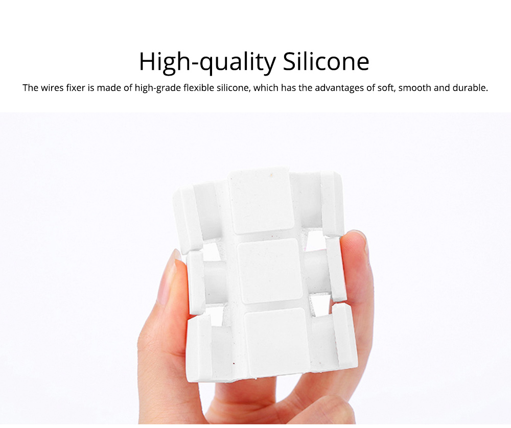 Desktop Self-Adhesive Data Line Finishing Fixed Clip Cable Organizer, Silicone USB Fixed Line Clips Wire Retainer Holder 1