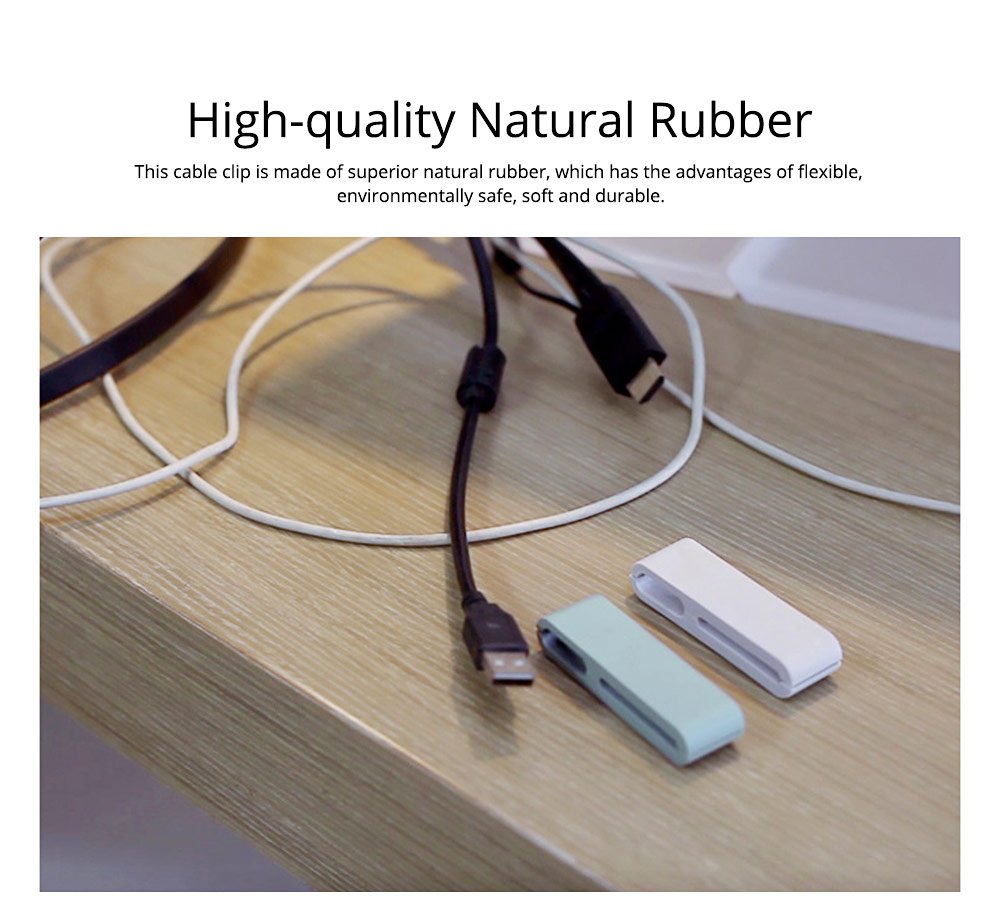 Minimalist Ultrasoft Natural Rubber Cable Clip Fixer, Multipurpose Wire USB Charger Data Line Organizer Holder 1