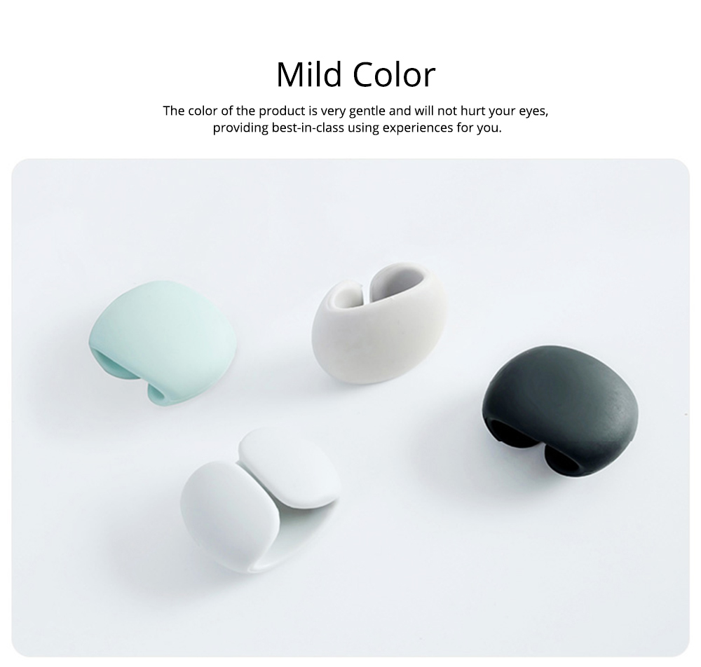 Soft Smooth Cable Wire Data Line Ties Organizer, 4PCS Silicone Phone USB Charger Earphone Holder Fixer 5
