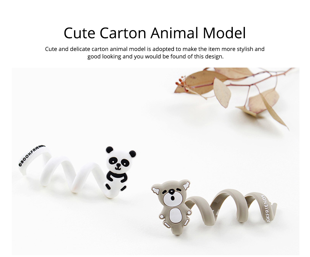 Delicate Cable Tidy Tie with Carton Animal Model, Bendable Metal Wire Earphone Data Lin Food Bag Organizer Strip 5