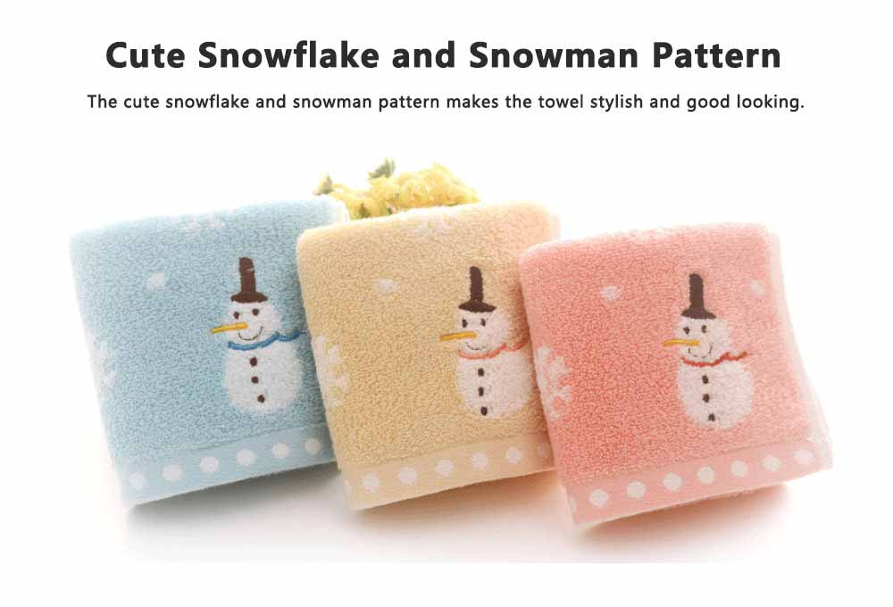 Soft Cotton Snowman Baby Towel, Cotton Newborn Baby Bathroom Warp Towel, Smooth Fluffy Embroidered Kerchief 4