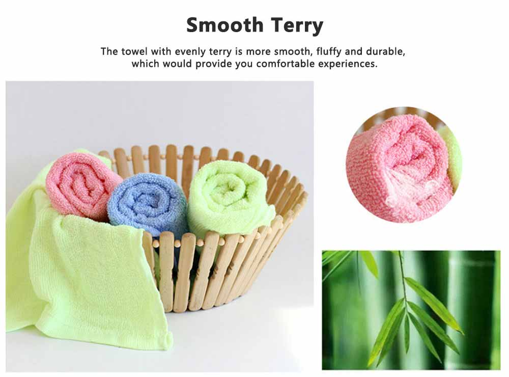 Bamboo Fiber Small Square Towel, Soft Fluffy Was Cloth for Babies, Fast Dry Bib and Face Towel for New Born Infants 4