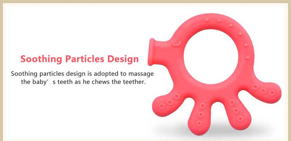 Cartoon Silicone Baby Teether, Animal Shape Baby Chew Toy with Massage Granules, Soft and Safety Molar for Infants 2