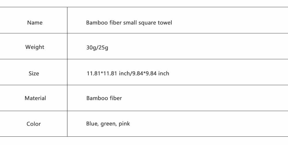 Bamboo Fiber Small Square Towel, Soft Fluffy Was Cloth for Babies, Fast Dry Bib and Face Towel for New Born Infants 5