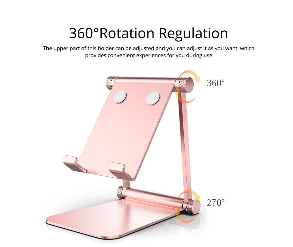 Adjustable Universal Metal Smart Phone Tablet Computer Holder, Minimalist Simple Collapsible Mobile Phone Stand Supporter 4