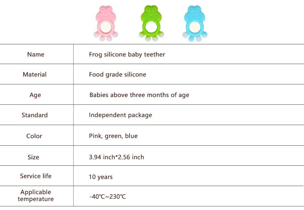 Cartoon Silicone Baby Teether, Animal Shape Baby Chew Toy with Massage Granules, Soft and Safety Molar for Infants 6