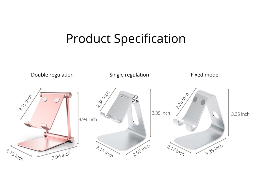 Adjustable Universal Metal Smart Phone Tablet Computer Holder, Minimalist Simple Collapsible Mobile Phone Stand Supporter 11