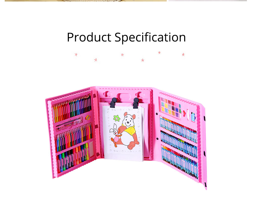 Children Multiple Watercolor Painting Pen Paintbrush Suit with Drawing Board, Portable Complete Colorful Painting Tools for Kids 10