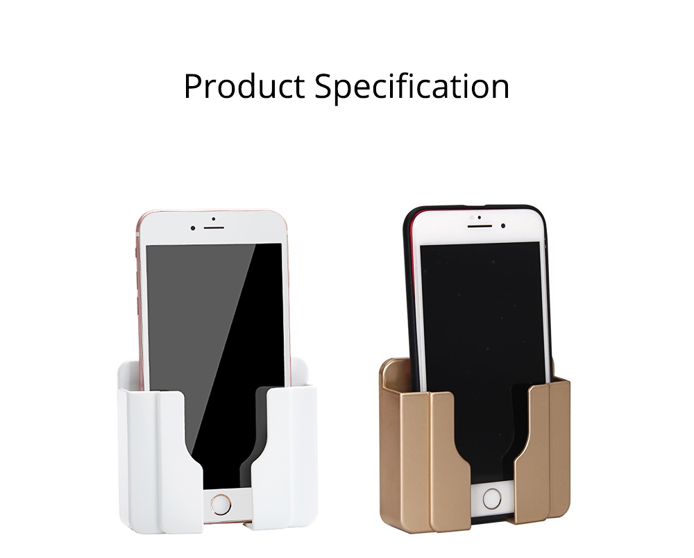 Wall-mounted Universal Smart Phone Free Stiletto Holder, Minimalist Solid ABS Mobile Phone Supporter 8