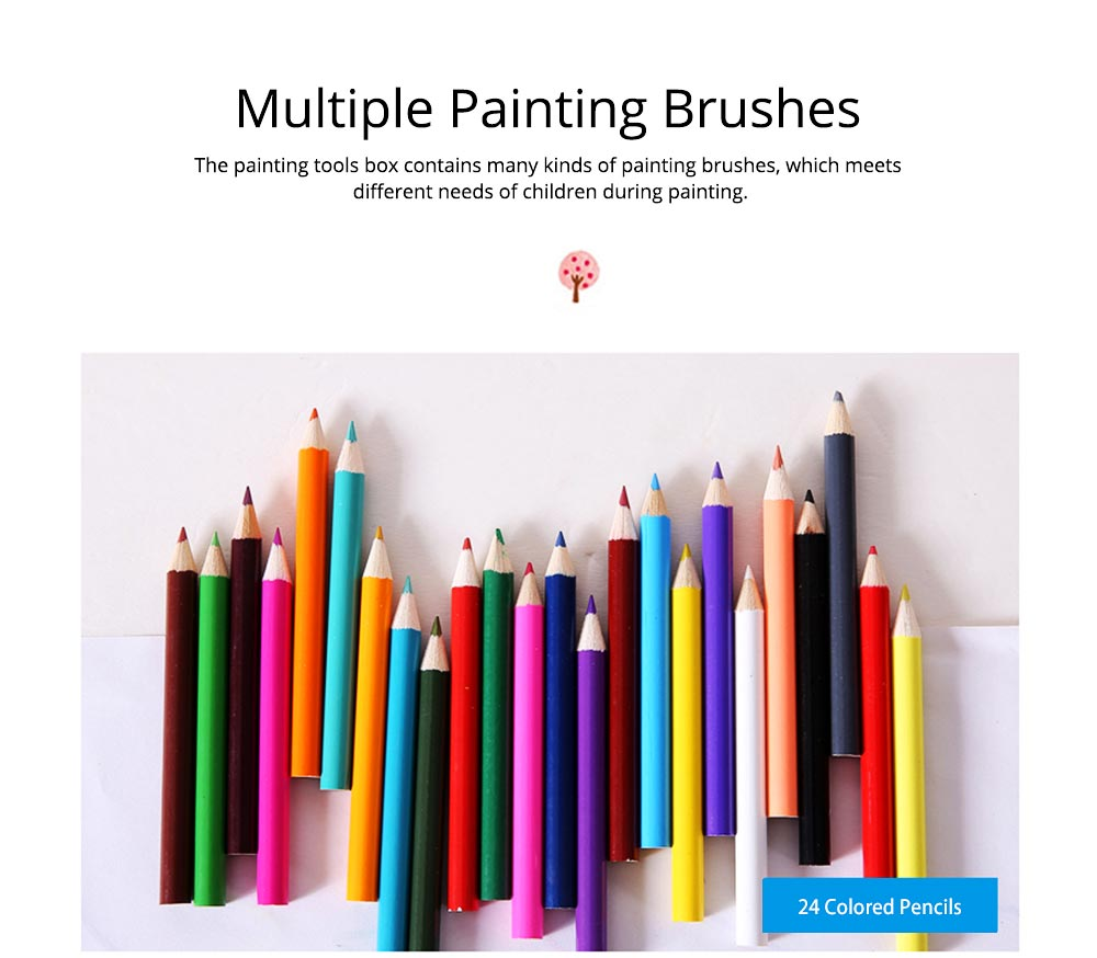 Children Multiple Watercolor Painting Pen Paintbrush Suit with Drawing Board, Portable Complete Colorful Painting Tools for Kids 3