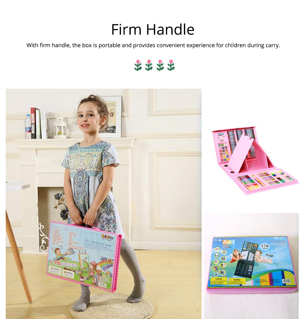 Children Multiple Watercolor Painting Pen Paintbrush Suit with Drawing Board, Portable Complete Colorful Painting Tools for Kids 9