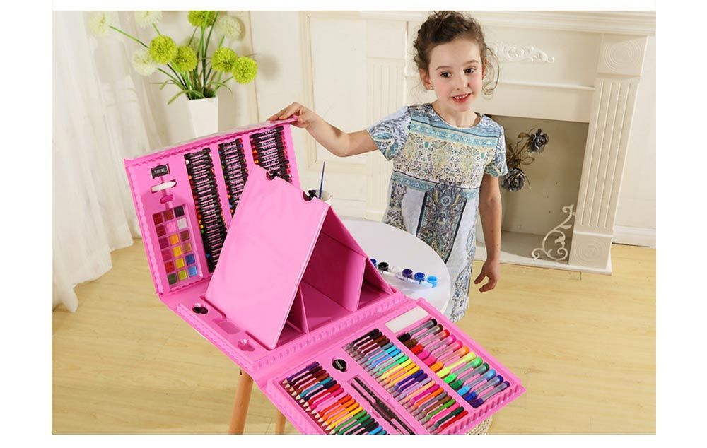 Children Multiple Watercolor Painting Pen Paintbrush Suit with Drawing Board, Portable Complete Colorful Painting Tools for Kids 2