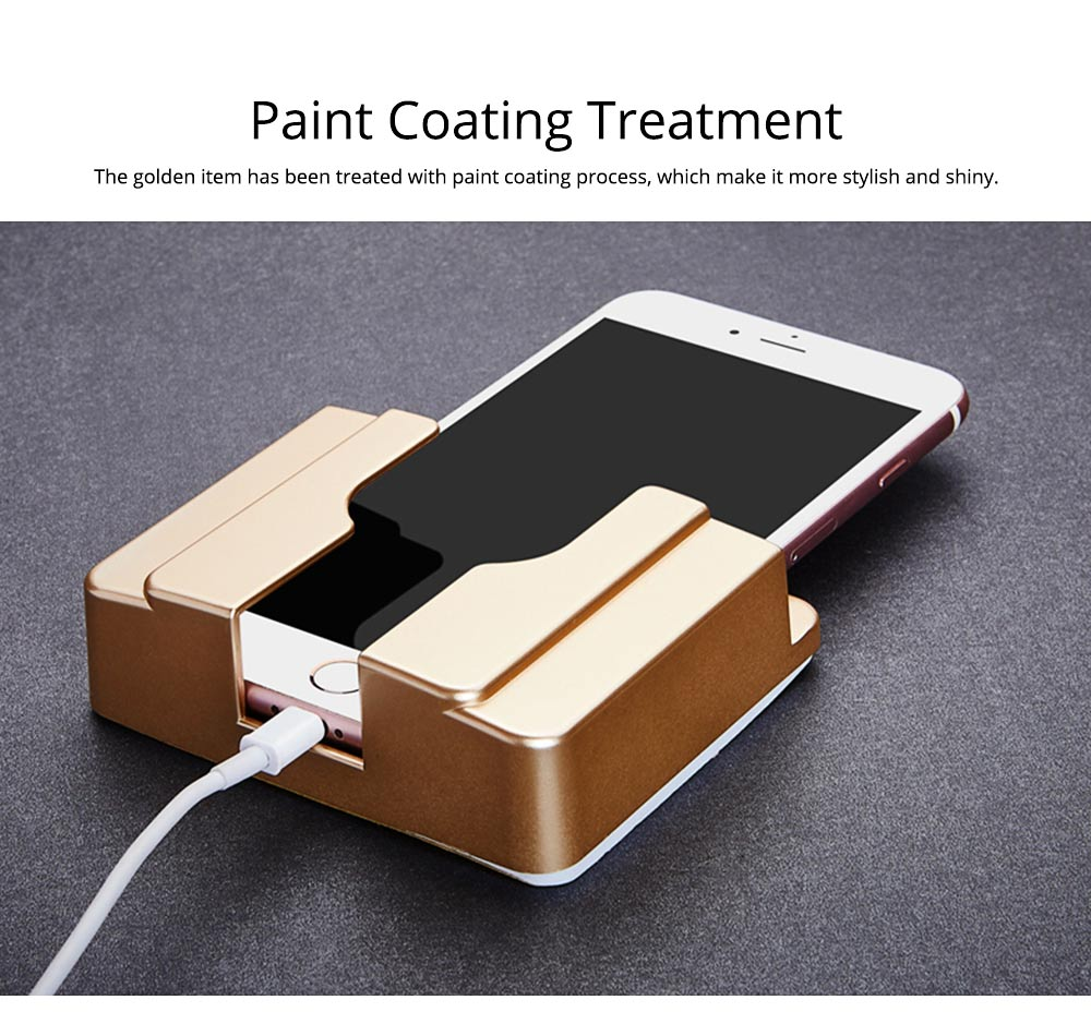 Wall-mounted Universal Smart Phone Free Stiletto Holder, Minimalist Solid ABS Mobile Phone Supporter 6
