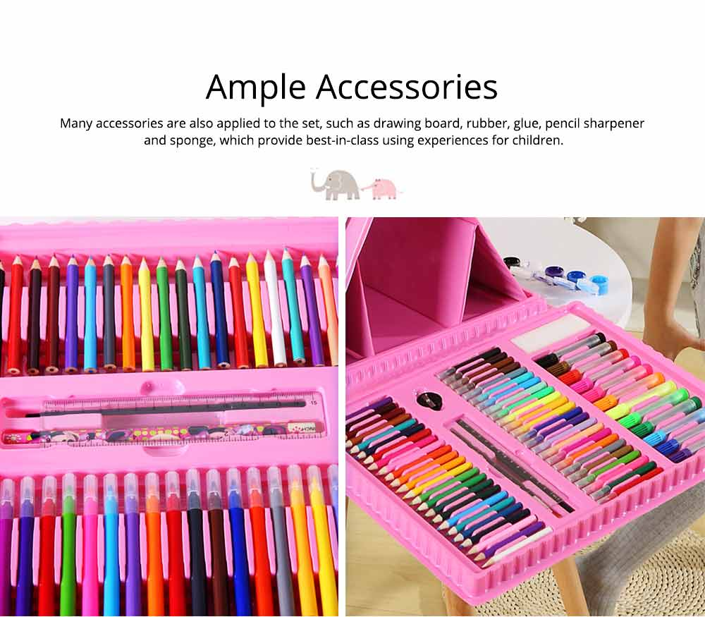 Children Multiple Watercolor Painting Pen Paintbrush Suit with Drawing Board, Portable Complete Colorful Painting Tools for Kids 6