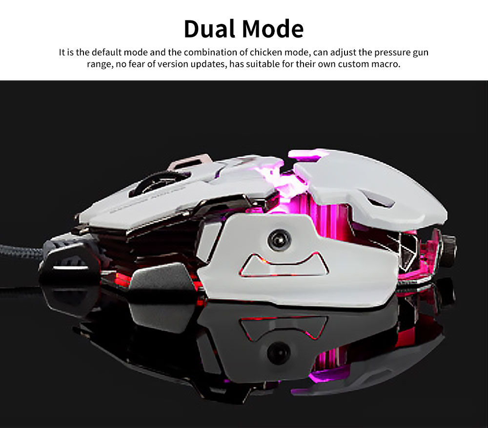 5 Key Esports Game Cool Mouse, Gaming Mouse With Two Modes and 10MM Hand Distance Support for Computer, PC, Laptop, MacBook 1