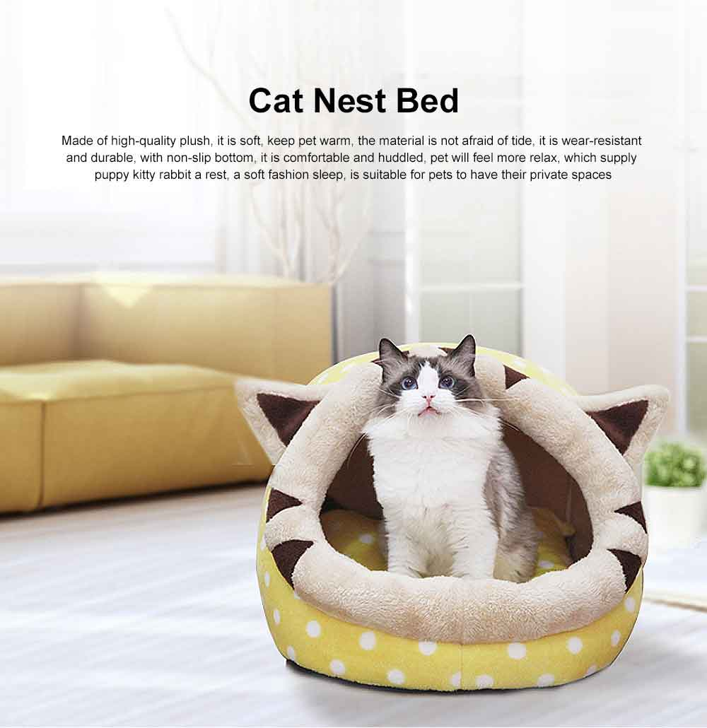 Animal Shape Luxury Pet Bed Dog Cat Nest, Supply Puppy Soft Sleep, Cat Nest Bed Keep Warm 0