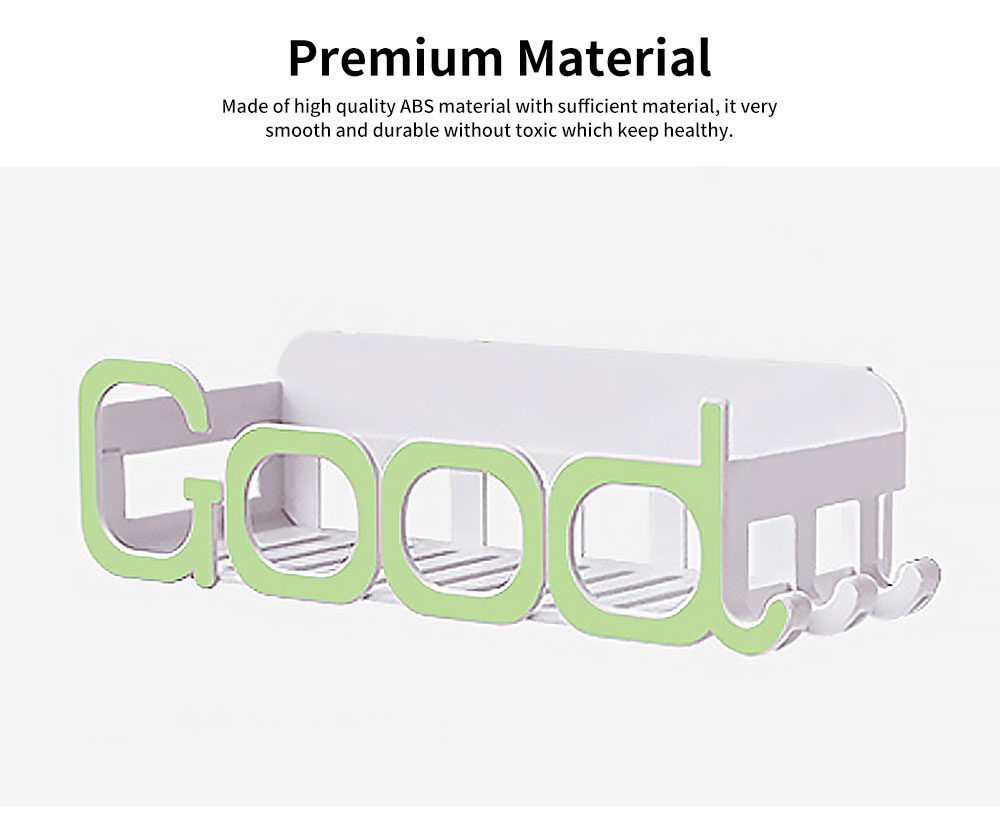Wash Gargle Station Place Rack Wall Hanging Angle Rack with Hole-free Design & Letter Shape for the Bathroom 1