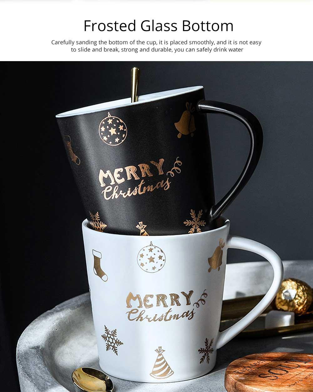 Christmas Couple Mug, Female Creative Nordic Mug, Large Capacity Ceramic Cup, Coffee Cup 4