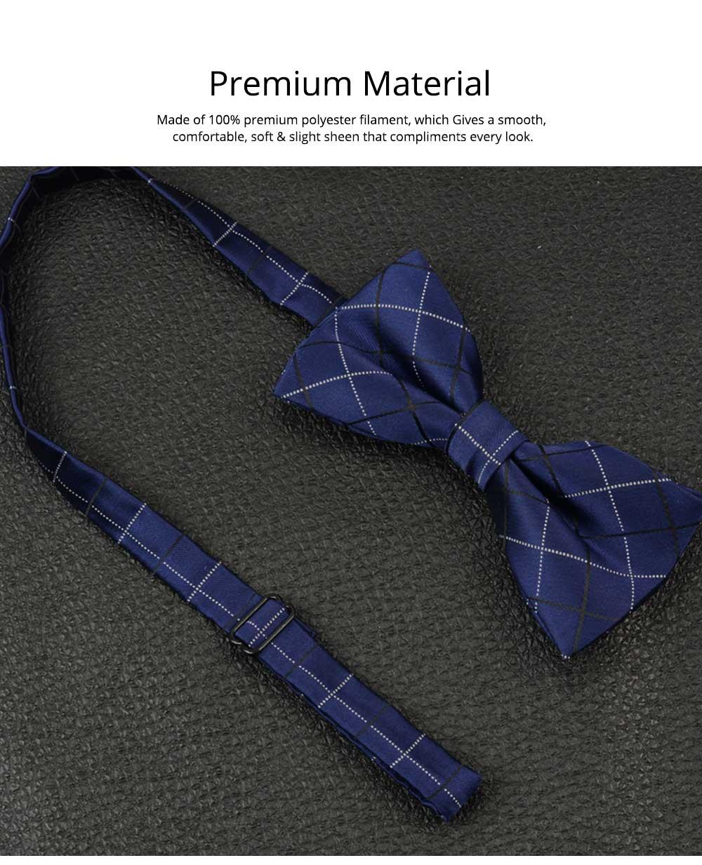 Men's Self Tie Bow Ties, Unique Grid Pattern Bow Ties, Various Styles for Groomsman Gets Married 2