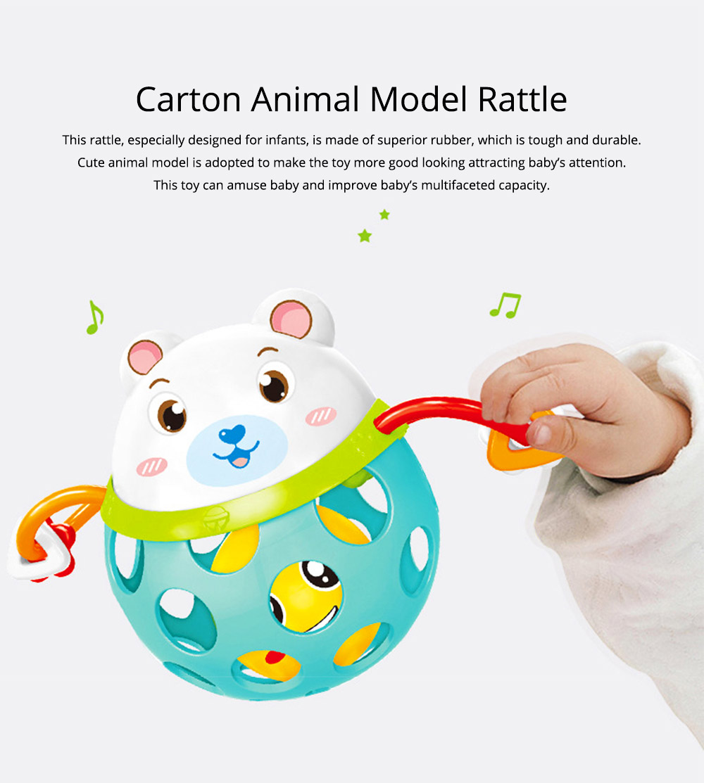 Colorful Cute Animal Baby Rattle, Creative Plastic Hand Bell Teether for Children Infants 0