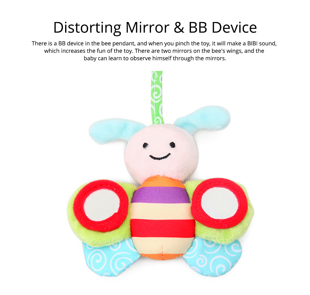 Baby Stroller Butterfly Hanging Plush Toys, Pram Bedside Winding Fluffy Pacification Toy Ornament 8