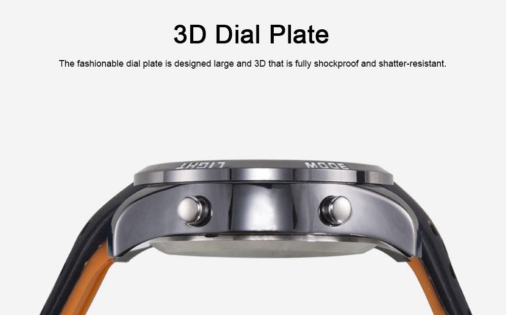 Digital Sport Watch for Men, Multifunctional Smartwatch 50M Waterproof Outdoors Watch 3