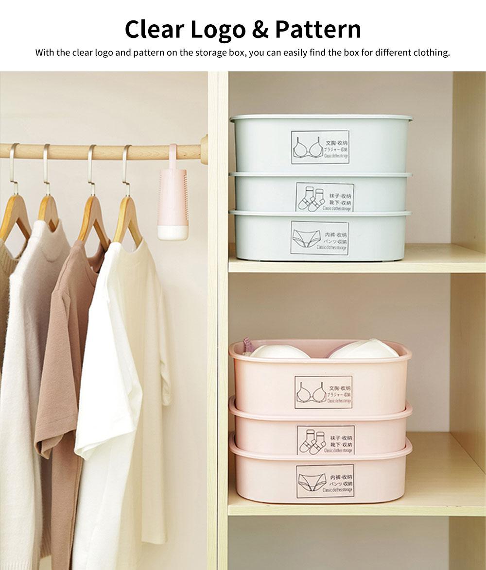 Underwear and Socks Storage Box with Small Grids, Plastic Bra & Underwear Organizer Box for Wardrobe & Drawer 3