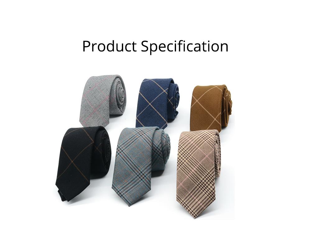Men's 6cm Narrow Bow Ties, Handcraft Unique Stripe & Grid Pattern Business Neckties- Various Styles for Men 8