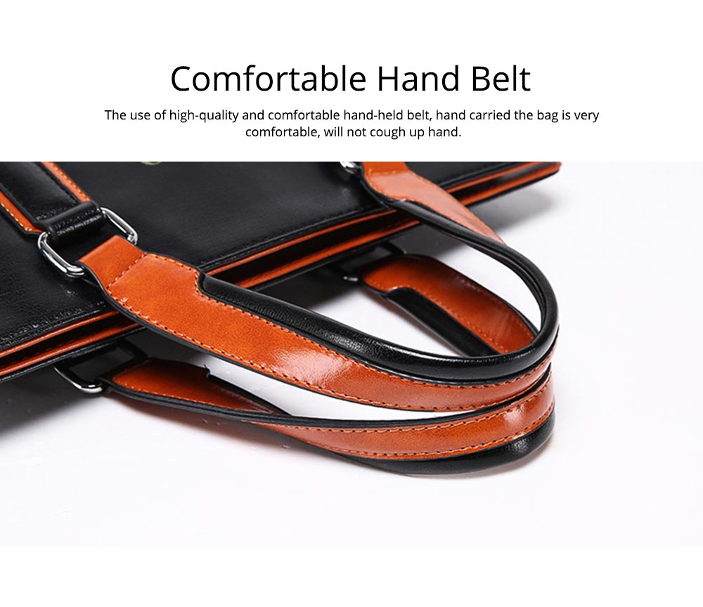 Single Shoulder Bag with Comfortable Hand Belt, PU Leather Large Capacity Inclined Shoulder Bag 3