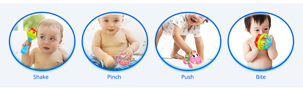 Silicone Rattles Grip Ball Teether with Cute Carton Animal Model, Delicate Funny Ultrasoft Silica Gel Puzzle Toy for Babies Children 2