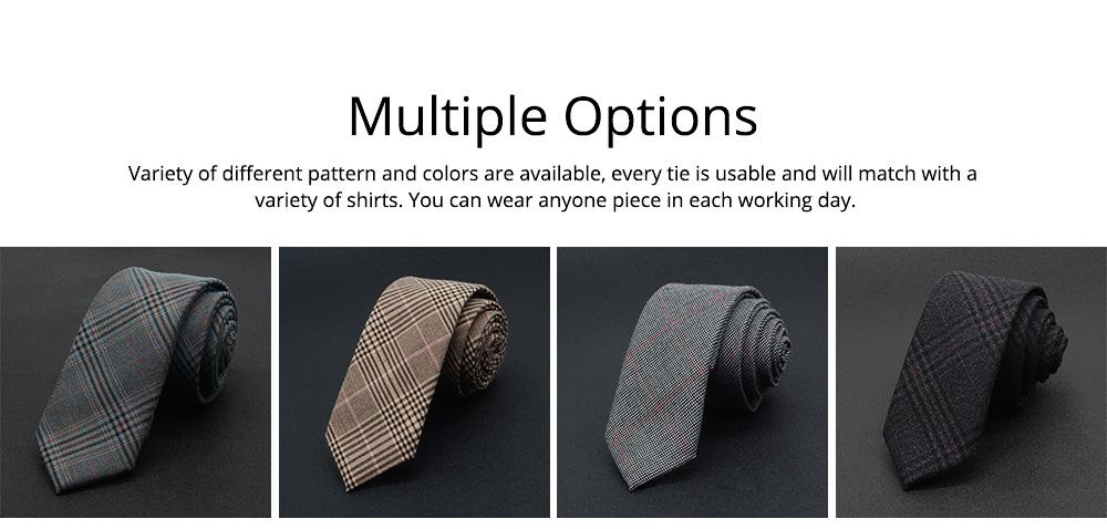 Men's 6cm Narrow Bow Ties, Handcraft Unique Stripe & Grid Pattern Business Neckties- Various Styles for Men 4