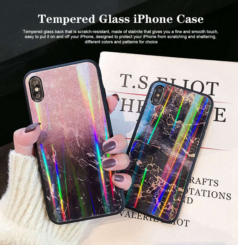 iPhone Protection Case Tempered Glass Back for iPhone XS/8 Plus/MAX/XR/7 Plus 0