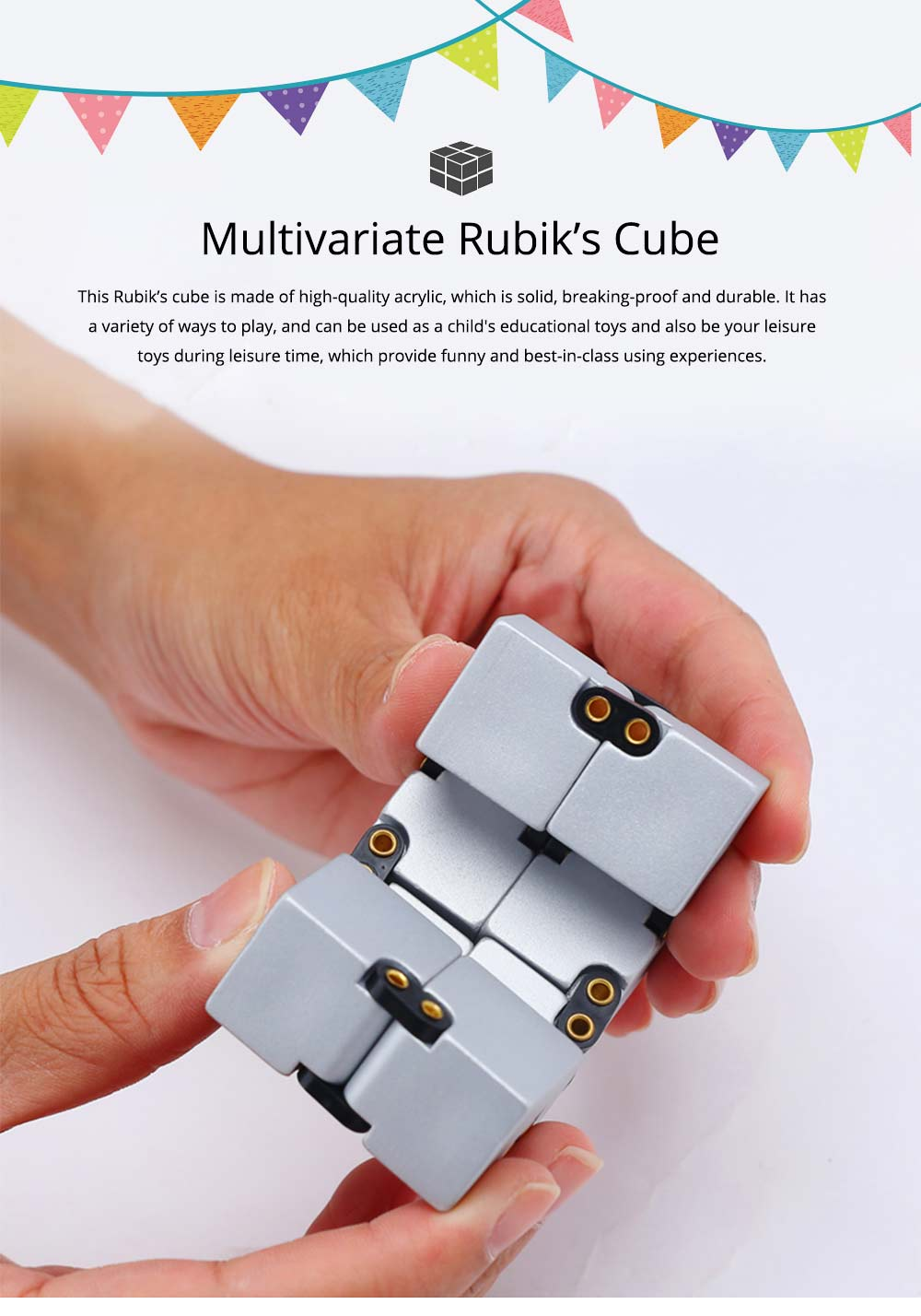 Creative Funny Multivariate Rubik's Cube Amusement Puzzle Toy, Interesting Magic Cube Gadgetry Present for Girls Boys 0