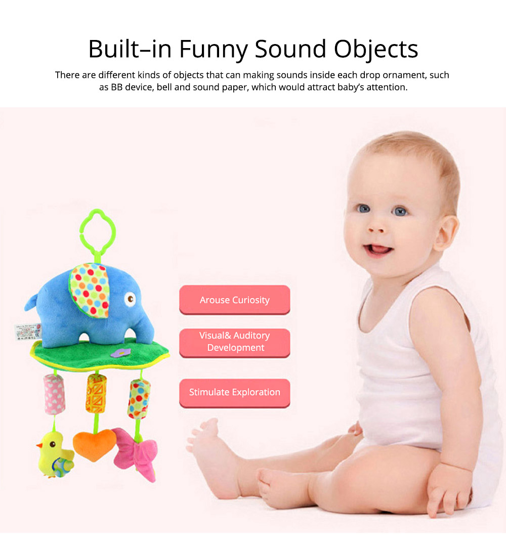 Cute Cartoon Animal Plush Baby Mobile, Delicate Fancy Pacification Early Education Stroller Hanging Toy for Infants Babies 8