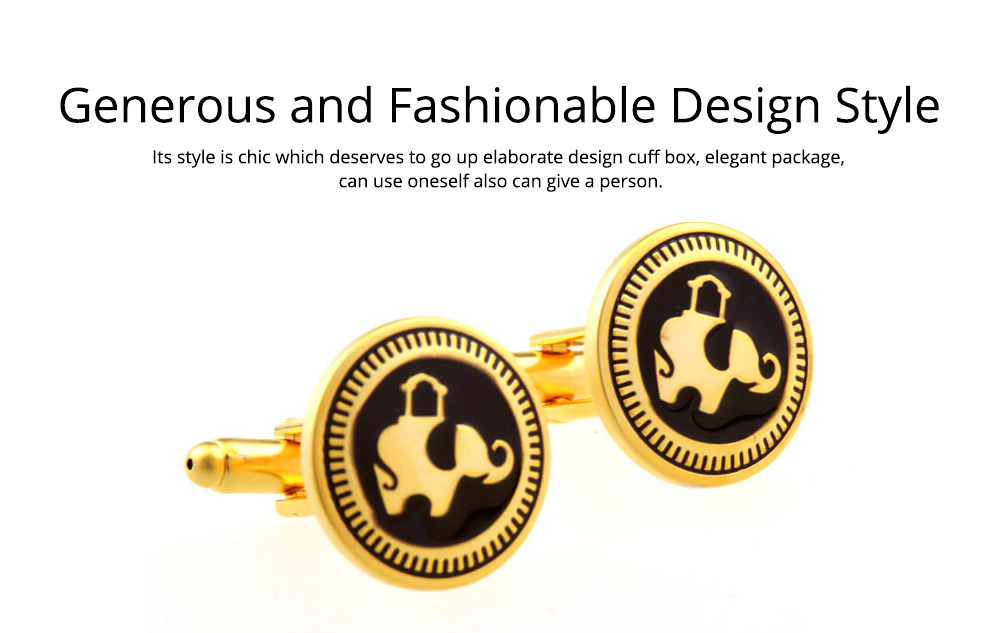Business Shirts Cufflink of French Style, Multiple Style & Classical Cufflink, Texture Fashion Buttons 4