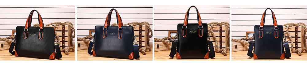 Single Shoulder Bag with Comfortable Hand Belt, PU Leather Large Capacity Inclined Shoulder Bag 4
