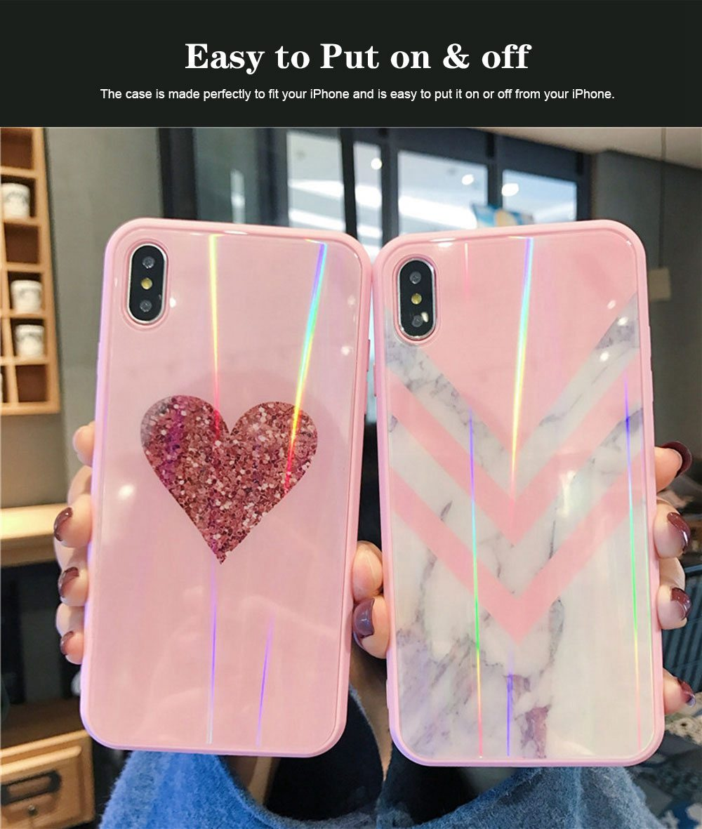 iPhone Protection Case Tempered Glass Back for iPhone XS/8 Plus/MAX/XR/7 Plus 3