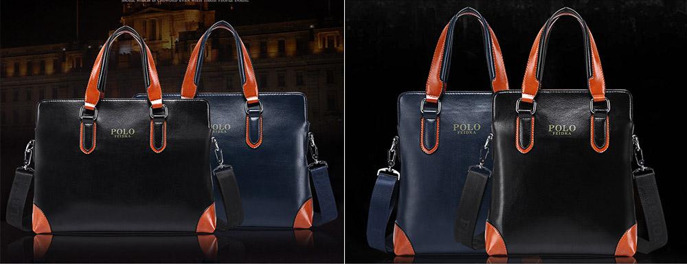 Single Shoulder Bag with Comfortable Hand Belt, PU Leather Large Capacity Inclined Shoulder Bag 2