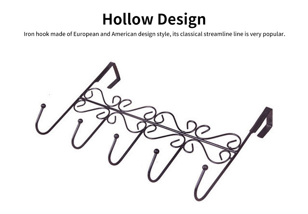 Iron Door Hook with Non-trace Iron Beads & Wide Range of Application, Hook Coat Rack with Twisted Hooks in Matte Black 4
