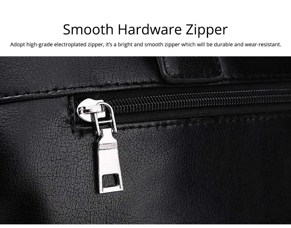 Single Shoulder Bag with Comfortable Hand Belt, PU Leather Large Capacity Inclined Shoulder Bag 7