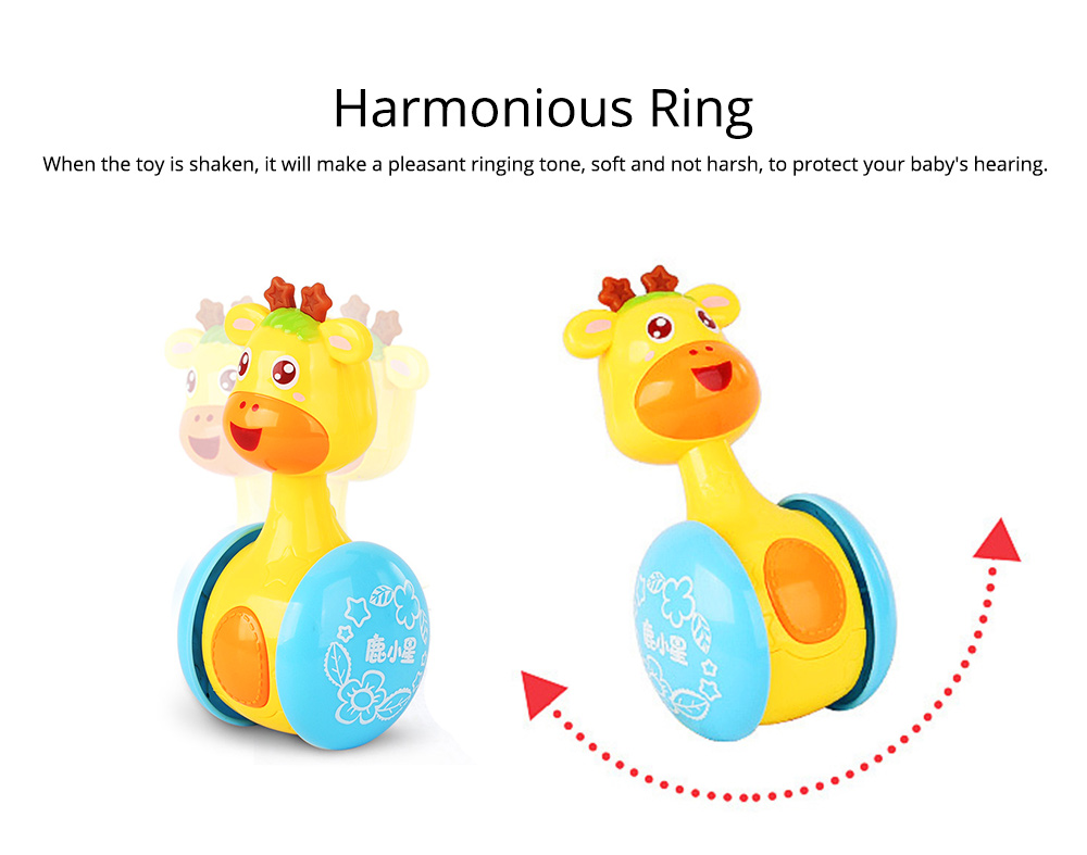 Cute Deer Tumbler Learn Crawling Education Toy, Breaking-proof Swinging Interaction Early Education Toy 4