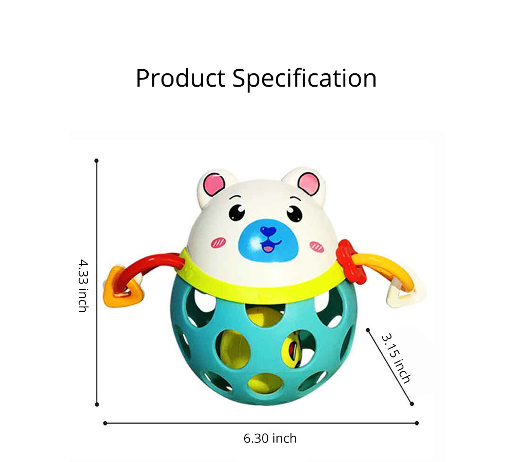 Colorful Cute Animal Baby Rattle, Creative Plastic Hand Bell Teether for Children Infants 9