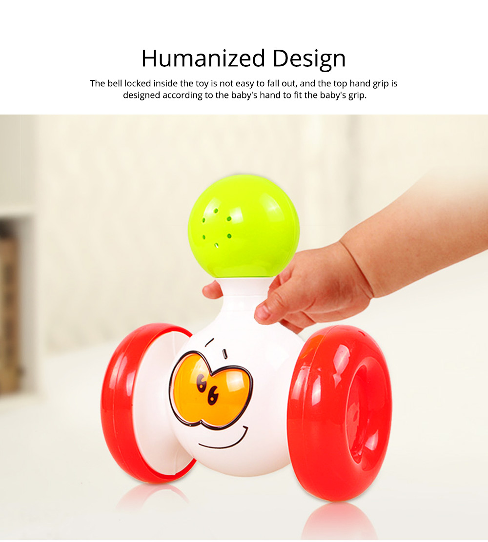 Funny Colorful Solid Plastic Pulley Tumbler Toy, Infants Babies Delicate Early Education Toy with Sound Effect 3