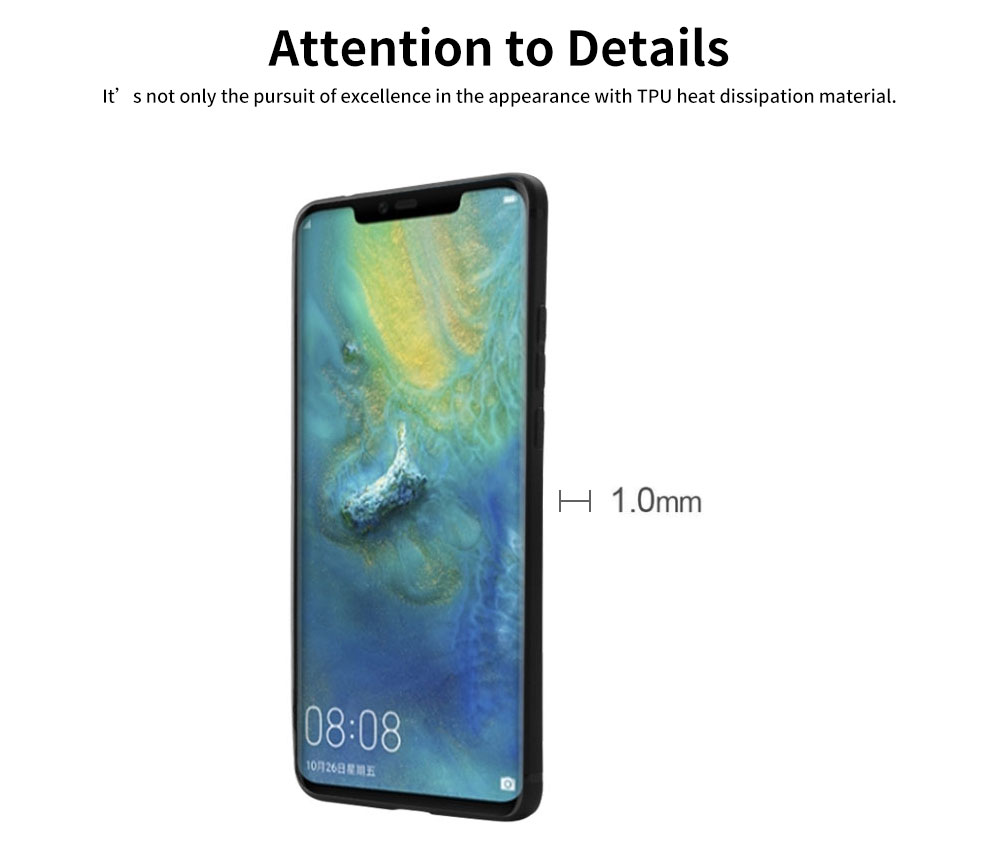 Non-drop Phone Case for HUAWEI Mate 20x/20, mate 9/9 pro, HD Colorless Painted Soft Shell Full Package with Black Background Design of Three Kittens 4