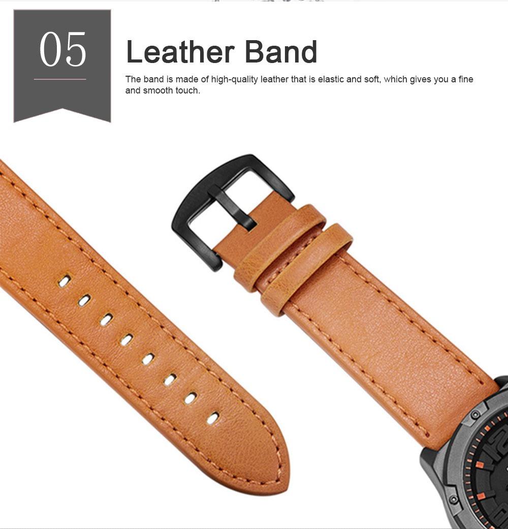 Waterproof Sport Watch with Calendar, Multifunctional Leather Band Sport Watchfor Men 5