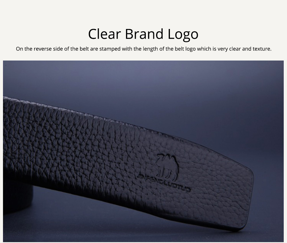 Men's Scratch Resistant Pure Leather Belt with Texture Alloy Buckle, Automatic Buckle Business Belt for Father's Day 8